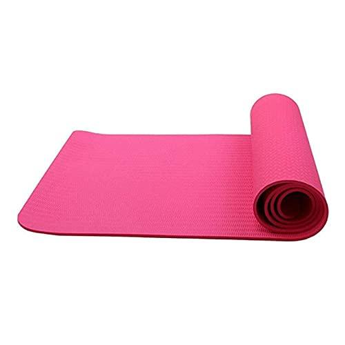 N\C Esterilla de Yoga de PVC 181CMX61CMX10mm, Adecuada para Principiantes, Antidesgarro, Esterilla Antideslizante para Deportes de Suelo de Alta Densidad y Esterilla Ideal para Practicantes de Yoga