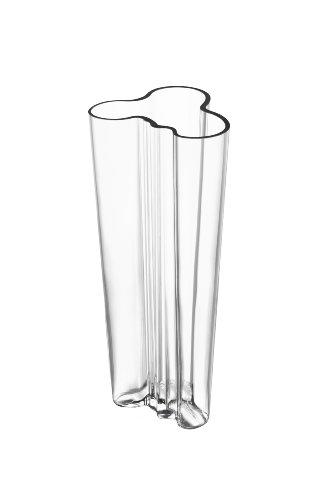 Iittala Alvar Aalto 10-Inch Finlandia Vase, Clear