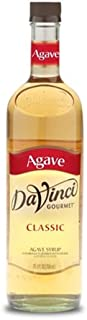 DaVinci Gourmet Agave Syrup, 25.4 Ounce (Pack of 4), Sweetener Syrup for Espresso Drinks, Tea, and Other Beverages, Suited for Home, Café, Restaurant, Coffee Shop