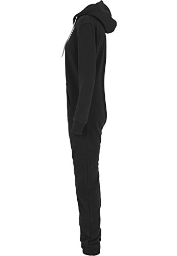 Urban Classics TB1077 Ladies Sweat Jumpsuit Overall Anzug Teddy Damen, Farbe:blk/wht - 4