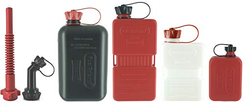 FuelFriend®-Bundle! 2,0L + 1,5L + 1,0L Clear + 0,5L mit Premium Auslaufrohr und verschließbarem Auslaufrohr!