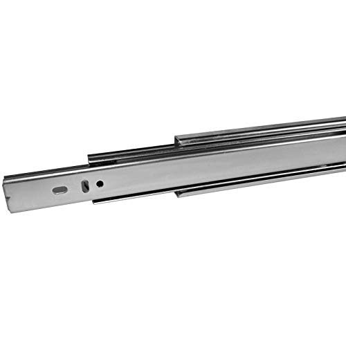 1 par (2 piezas) SO-TECH® Guía para Cajón de Extracción total Carril de Cajón Argénteo 700 mm (cerrado) Rodamiento de Bolas Capacidad de carga 45 kg