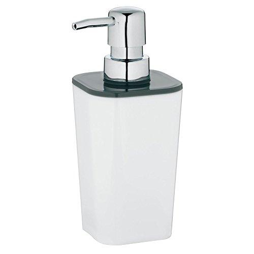 kela Seifenspender Nuria aus Kunststoff in weiß/grau, Plastik, 7.5 x 7.5 x 17 cm