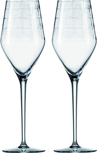 Zwiesel 1872 Hommage Carat Champagnerglas, Glas, Klar, One Size, 2-Einheiten