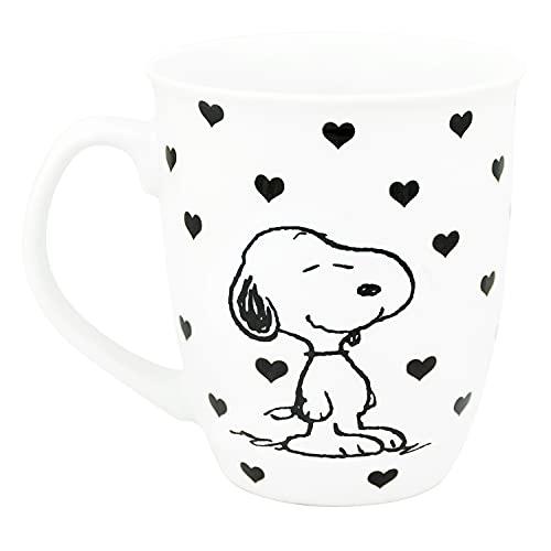Snoopy Peanuts - Taza (320 ml), diseño de corazones