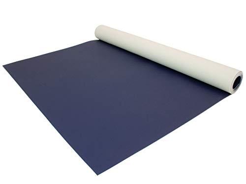 PVC Bodenbelag EXPOTOP Profi Vinylboden - 2,00m x 1,00m, Uni Blau PVC Boden Meterware Vinyl, Reflektiert Nicht, Einfarbig, Schwer Entflammbar