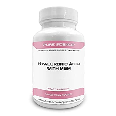 Pure Science Hyaluronic Acid and MSM 520mg - 50 Vegetarian Capsules