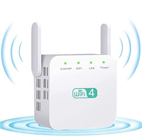 Milu deer Ricevitore WiFi del Segnale Wireless Dual Band, Ricevitore WiFi, 300 Mbps 2.4G WiFi Range Range Extender, Design a Muro Compatto con Tappo Regno Unito (Color : White)