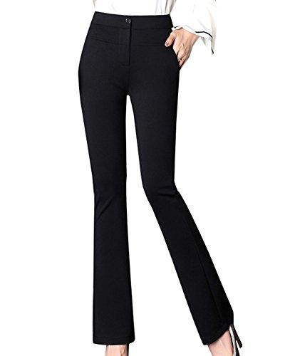 LaoZanA Mujer Pantalones Casual Bootcut Slim Fit Pantalones Acampanados Cómodo
