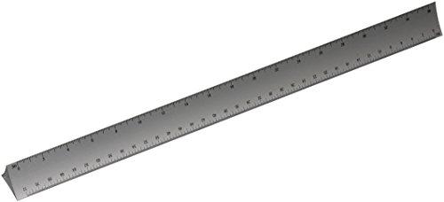 Alumicolor 3000 Series 12-Inch Silver Hollow Aluminum Triangular Engineer Scale