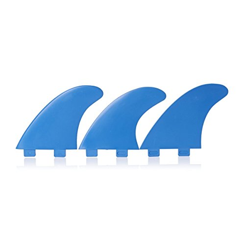 Eurofins FCS Compatible Surfboard Fin Set - Blue [Set of 3 Fins]
