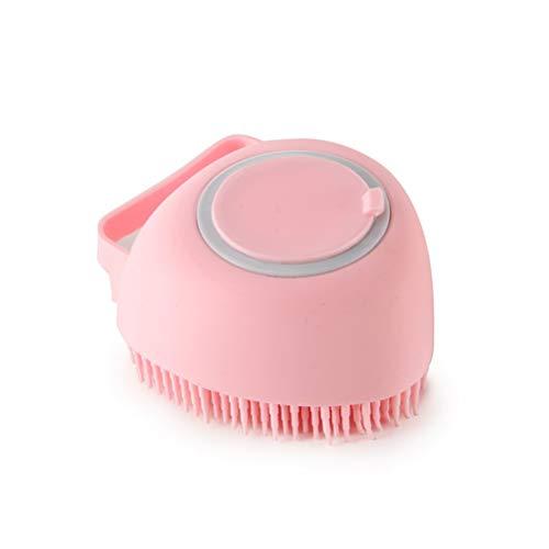 Gogias Exfoliante corporal de silicona 2 en 1, esponja de ducha, cepillo de baño suave con dispensador de champú, cepillo de masaje reutilizable para mascotas bebé