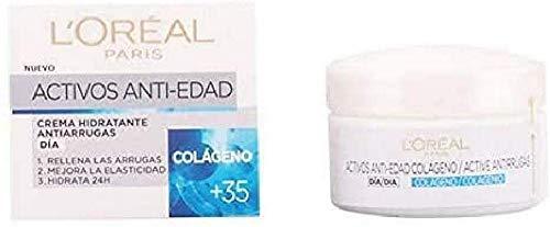 L'Oreal Paris Active Antirrugas Colágeno - Crema hidratante de día, 50 ml