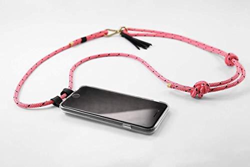 iPhonehülle zum umhängen aus Segelleinen in pink für iPhone 5/SE, 6/6s, 7, 7 Plus, 8, 8 Plus, X, Xr, Xs, XsMax, 11, 11 Pro, 11 Pro Max