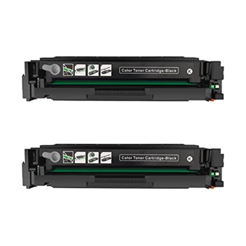 HYYH Compatible con HP CF400A, cartuchos de tóner de repuesto para HP Color Laserjet Pro M252DW 252N MFPM27DW 277N 274n impresora con chip, impresión de oficina color vivo 2 negro