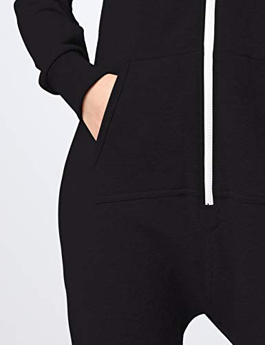 Urban Classics Damen Overall Jumpsuit Sweat Medium Blk/Wht - 3