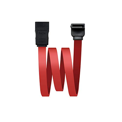 NanoCable 10.18.0202-OEM - Cable SATA Datos acodado para Disco Duro o Dispositivos con conexión SATA, Rojo, 0.5mts OEM