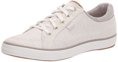 Keds Women's Center II Sneaker, Gray Stripe, 8.5 Medium