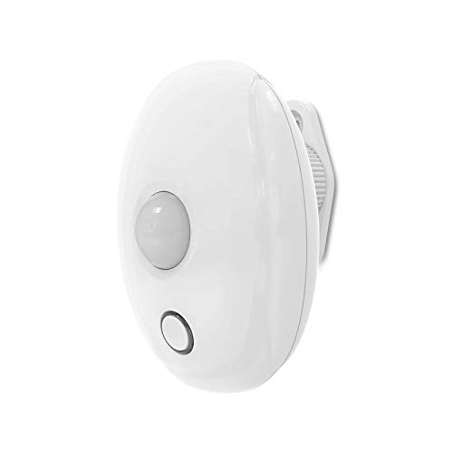 Ecoey Motion Detector, Wireless Motion Sensor (Battery Include) with Pyroelectric Sensor for Real-time, Passive Detector with Digital Temperature Compensation Technology and LED, FJ100A-14, 1 Pack