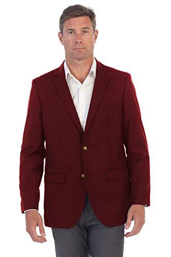 Cloudstyle Mens Slim Fit Paisley Suit Party Suit Jacket One Button Jacquard Sport Coat Burgundy