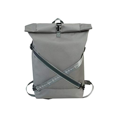 Rolltop Backpack Men Women Waterproof & Dustproof Roll-Top Backpack 18L-22L Bicycle Backpack School Backpack Daypack Cycling Backpack with 15.6 Inch Laptop Compartment Grey grey 28 x 45 x 15 cm