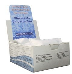 Fluidra 40924 - Floculante en Cartucho 100 gr para electrolisis de Sal 1 kg