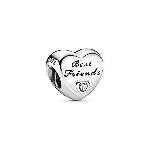 Pandora Donne Bead Migliori Amici del Cuore 925 Zirconia Trasparente - 791727CZ