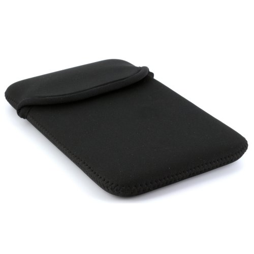 Tasche aus Neopren für Tablet PC Größe 7 Zoll (17,78cm) max. Geräteabmessungen von 202 x 125 mm -- Hülle in schwarz