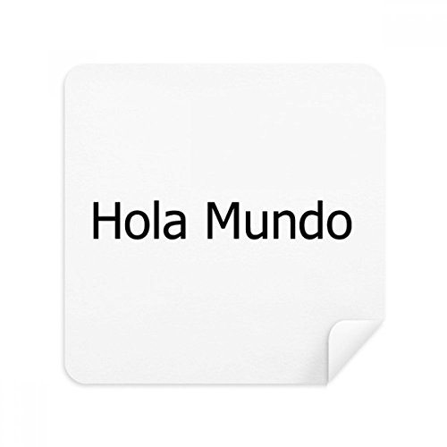 DIYthinker Hallo Wereld Spaanse Bril Schoonmaken Doek Telefoon Scherm Cleaner Suede Stof 2 Stks