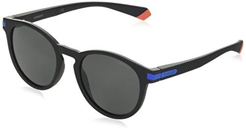 Polaroid PLD 2087/s Occhiali, 0VK/M9 MTBLK Blue, 50 Unisex-Adulto