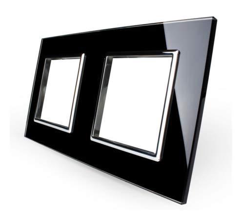 LIVOLO Glas Touch Lichtschalter Funkschalter Steckdosen Wechselschalter uvm in schwarz (nur Rahmen: VL-C7-SR/SR-12)
