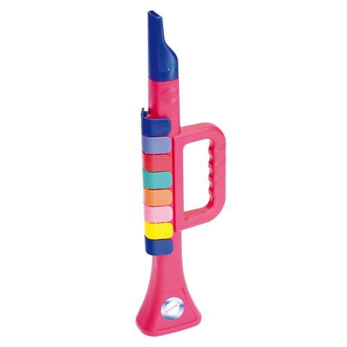 Bontempi TR2732N - trompet met 8 gekleurde toetsen, 27 cm