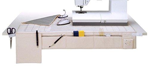 Prym 611926, Bügelunterlage Multi, Bügeln Tabelle, beige, Skala pflaumenblau, 50 x 92 cm, 1 Stück