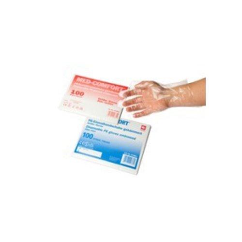 neoLab 1-4005 Einmal-Handschuhe, PP, gehämmert, Herren-Größe (100-er Pack)
