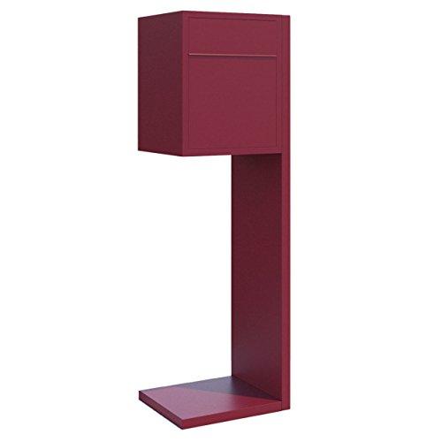 Standbriefkasten, Design Briefkasten Hermes Rot - Bravios