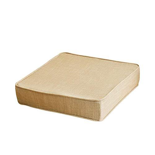 Cojín de asiento con sobrecargado cuadrado, esponja espesando cojines para silla muebles de patio almohadillas de asiento de suelo alimento para piezas de silla al aire libre para exteriores ligeros T