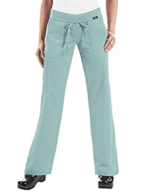 KOI womens Sage medical scrubs pants, Sage, Small US