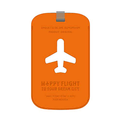 ALIFE(アリフ) HAPPY FLIGHT スクエアラゲージタグ オレンジ