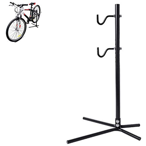 QWSA Mountain Bike Vertical Display Rack Bicycle Workshop Booth Used for Repair and Storage of All Types of Bicycles Suitable for 20 Inch to 26 Inch and Road Bikes