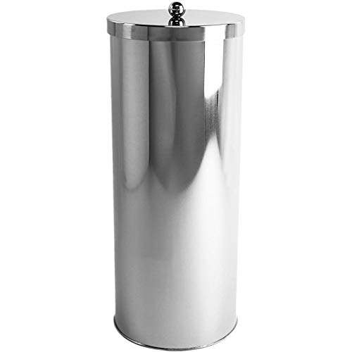 Huji Rust Resistant Stainless Steel Toilet Paper Roll Canister Holder for Bathroom Storage (1 Pack,...