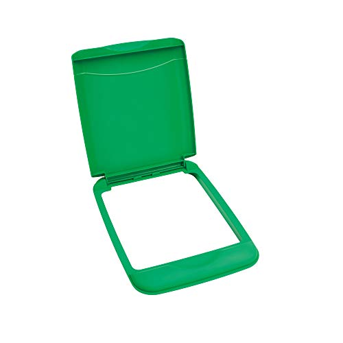 35 Quart Polymer Trash Waste Container Garbage Recycling Can Replacement Lid for Kitchen or Laundry Room Sliding Cabinet Base, Green (Lid Only) - Rev-A-Shelf RV-35-LID-G-1