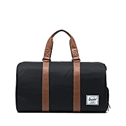powerful Herschel New Travel Bag, Black / Brown Synthetic Leather, Classic 42.5 l