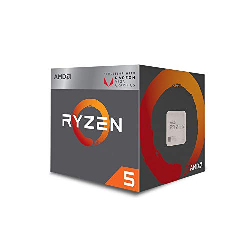 AMD Ryzen 5 3400G 4-core, 8-Thread Unlocked Desktop Processor with Radeon RX...