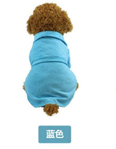 Wintermantel voor honden, huisdieren, blauw, badjas, pyjama, jurk, petniees in de winter, warm, grote arm, koud, M, Foto