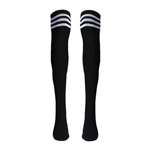 Voberry Autumn Retro Knee High Tube Thigh High Socks Over Knee Girls Football Socks (Back)
