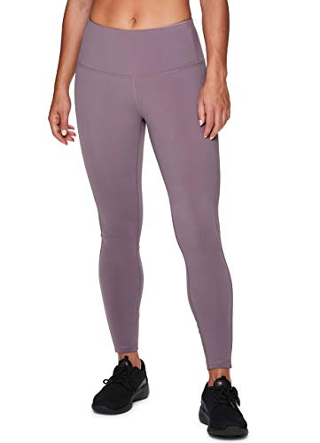 RBX Active Women's Super Soft Peached Squat Proof Workout Running Yoga Legging Solid Purple M