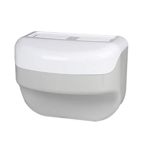 GKKXUE Dispensador Papel Higiénico Baño de Pared, Soporte Plástico Ahorrar Espacio, Soporte Papel Higiénico, Fácil de Instalar, Caja Almacenamiento Impermeable, Soporte para Toallas Papel