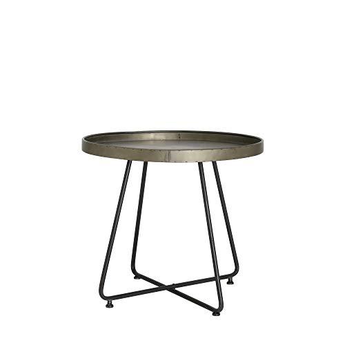 Light & Living Design tafel Ø64,5 x 59 cm HYLKE tin-look