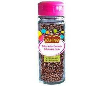 Vahine - Fideos - Confites sabor Chocolate Desgrasado - Sin Colorantes - Ideal para Pastelería -71 Gramos