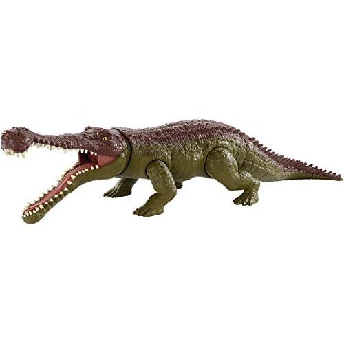 Jurassic World- Sarcosuchus Mega Morso, Dinosauro di Circa 40 cm Giocattolo per Bambini 4+ Anni, GJP34